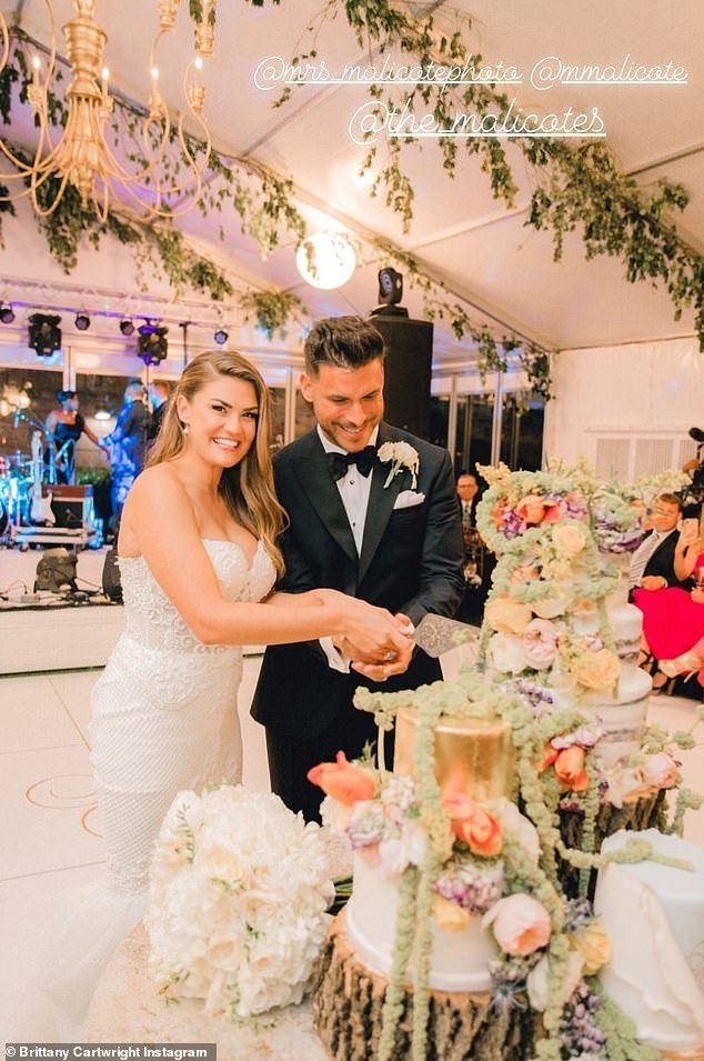 Jax Taylor And Brittany Cartwright Settle Into Married Life Custom Wedding Dress Wedding Dresses Celebrity Weddings