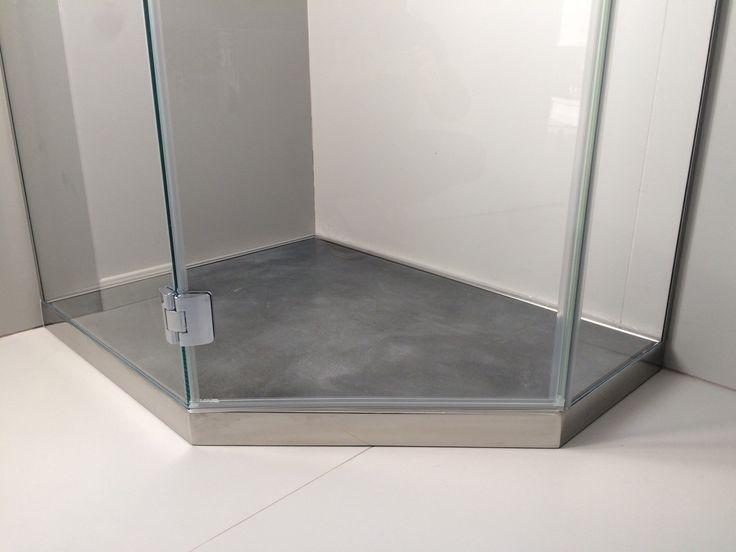 P DRENO PLUS Linea Penta #piatto #doccia da #appoggio in #acciaio #inox #satinato, su #misura by #SILVERPLAT