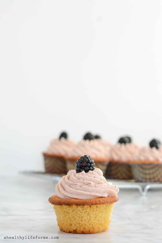 Lemon Blackberry Cupcake Recipe Gluten Free Paleo Recipe | Paleo Recipe | Gluten Free Recipe | Valentine's Day Recipe | Cupcake Recipe | Lemon Recipe