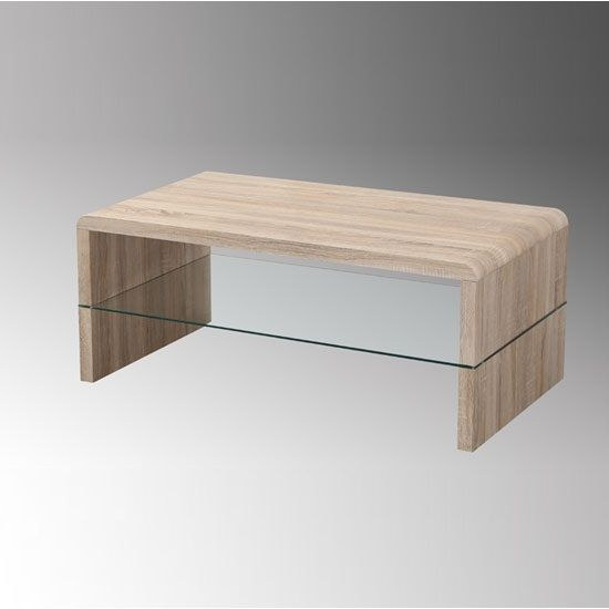 Carmen Light Oak White Coffee Table With Glass Shelf Furniture Pinterest Shelves White