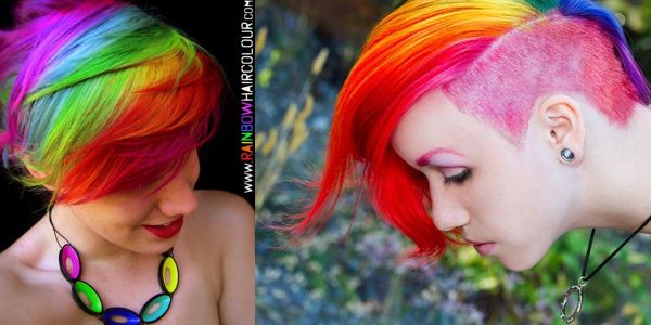 Rainbow κοντά μαλλιά!!!