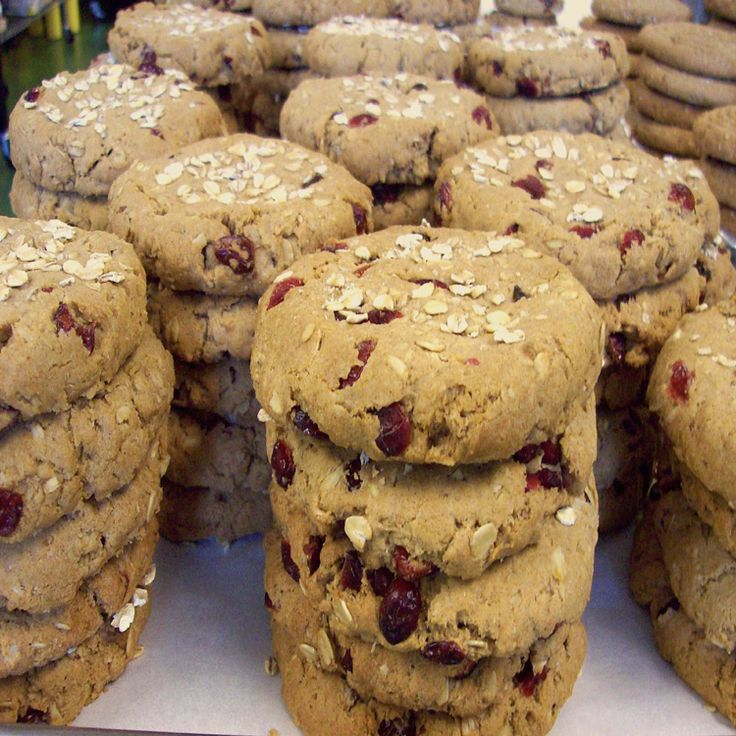 I really enjoy the combination of cranberry with the subtle hint of lemon in these large, slightly crunchy cookies. This recipe was not tested by Bob's Red Mill. Whole Grain! Gluten Free, Lactose Free, Low Cal, Vegan.