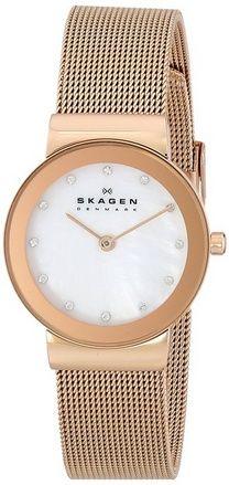 cool Women's 358SRRD Freja Quartz 2 Hand Stainless Steel Rose Gold Watch - For Sale