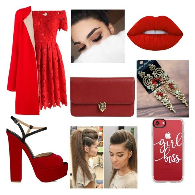 """""""ⓔⓥⓔⓝⓘⓝⓖ/ⓦⓔⓓⓘⓝⓖ ⓖⓤⓔⓢⓣ ⓞⓤⓣⓕⓘⓣⓢ"""" by morozova-com-ua on Polyvore featuring Chicwish, IRIS VON ARNIM, Dsquared2, Lime Crime, Casetify and Alexander McQueen"""