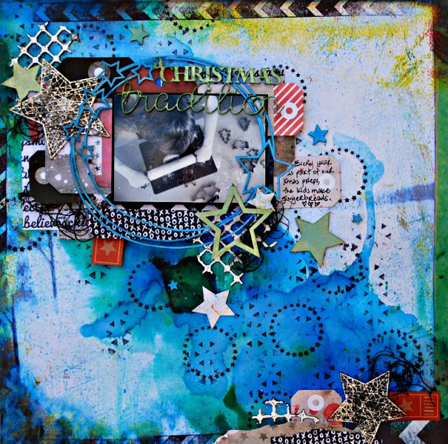 2Crafty Chipboard - 'A Christmas Tradition' layout by Tammy Klingner