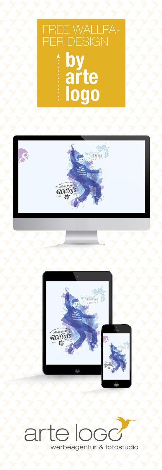 Free Wallpaper for Desktop, iPhone and iPad by arte-logo.de Free Download, Kalender 2016, selfmade, August, Aloha from Willofs, Elvis Presley, Gedenkstein, Vogelsbergkreis, Hessen