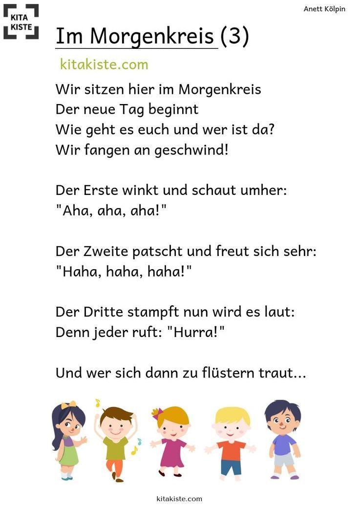 """""""Im Morgenkreis"""" – 3 Fingerspiele – Bastelarbeiten – #Bastelarbeiten #fingerspie… – Kindergarten Aktivitat"""