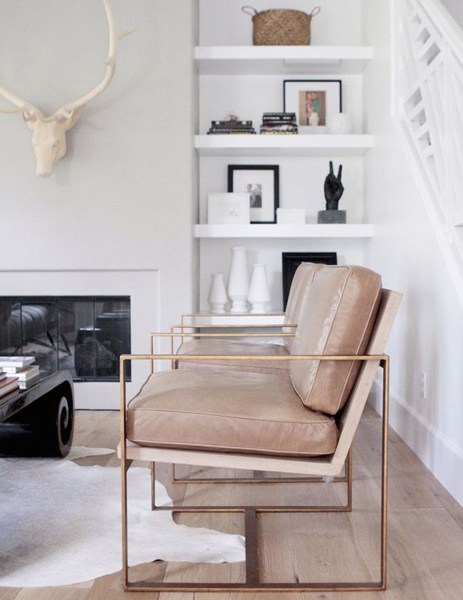 Blush and Brass Chairs