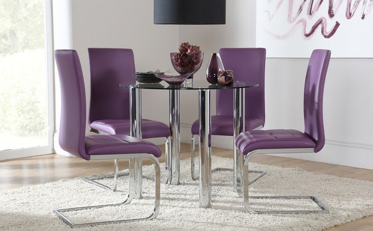 Solar Round Chrome And Glass Dining Table With 4 Renzo: 44 Best Images About Modern Dining On Pinterest