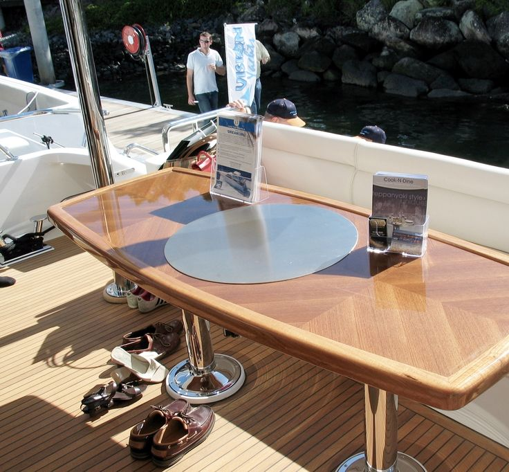 Custom teppanyaki tables are great additions on boats, too!