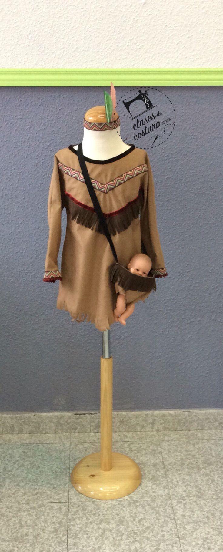 Como locas estamos con lo bien que ha quedado este disfraz de India para la niña de Sandra! Oleeee!!