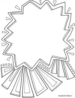 Use these free printable doodle art pages to create a fun coloring page for your sponsored child. Write in their name to make it a personalized keepsake!