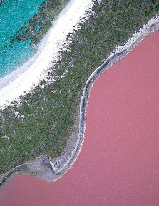 Pink lake? Count us in... Australia's Lake Hillier