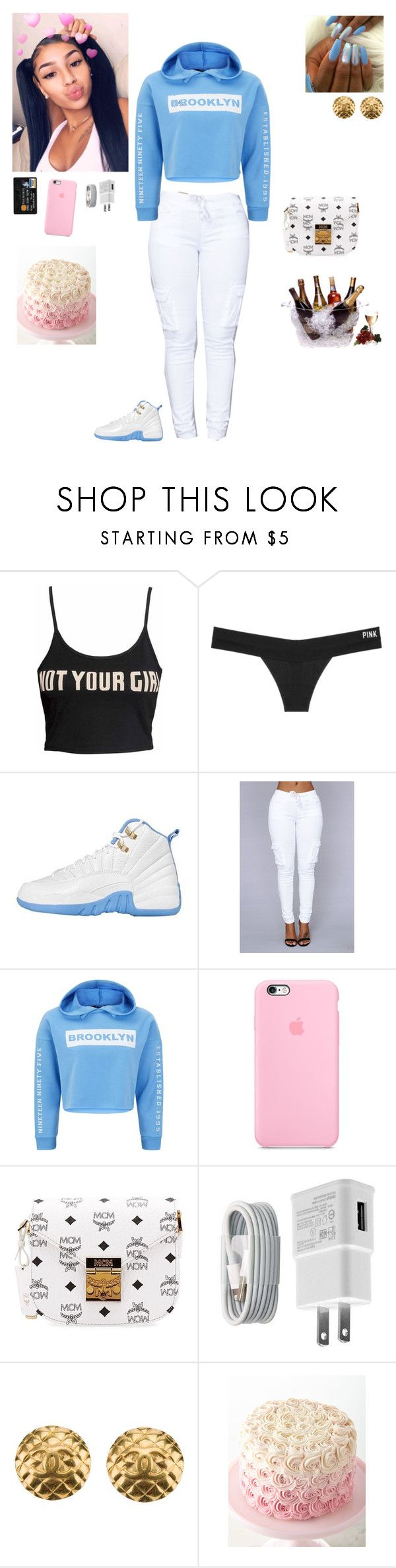 """"" by kristinabone ❤ liked on Polyvore featuring Victoria's Secret, New Look, MCM, WALL, Chanel and Prodyne"