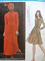 1970s JEAN MUIR Dress Pattern VOGUE Couturier Design 2772 Lovely Day or Evening Maxi Dress Bust 36 Vintage Sewing Pattern FACTORY FOLDED