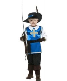 Smiffys Musketier Kostüm Kinder Musketierkostüm blau S 128 cm | Netzspielzeug