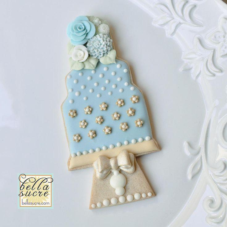 439 Best Wedding Cake Cookies Images On Pinterest