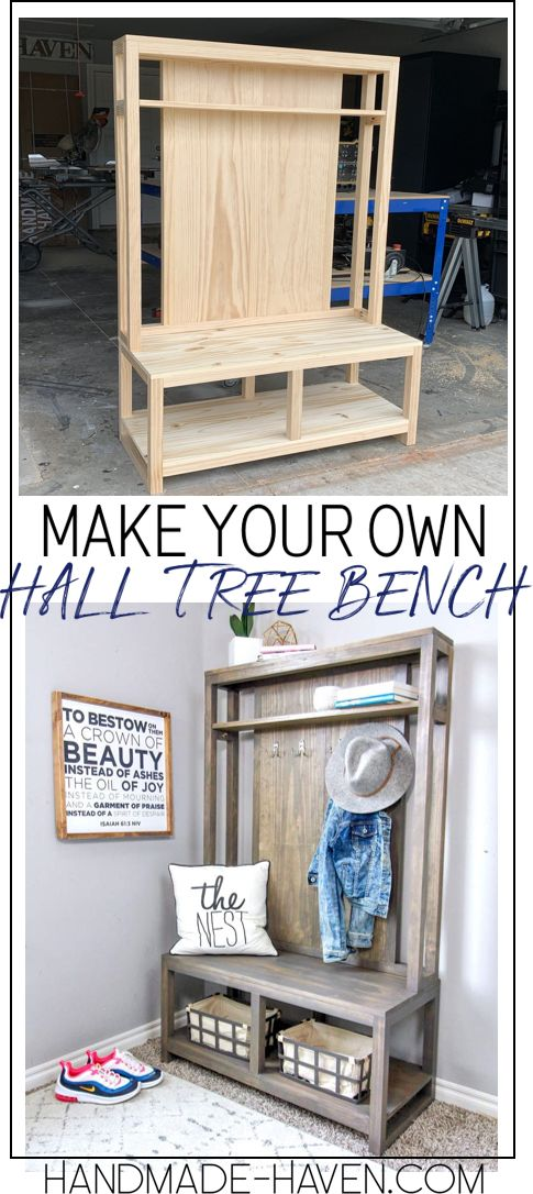 Hall Tree Bench