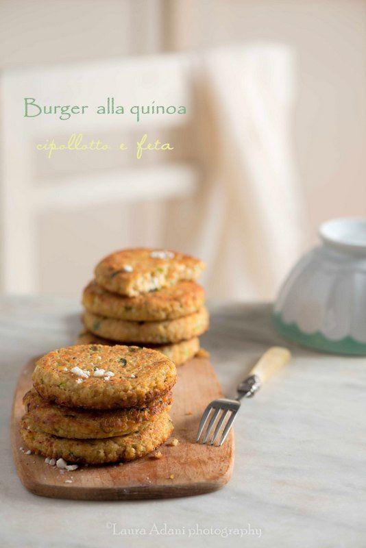 io...così come sono...: Burger alla quinoa, cipollotto e feta