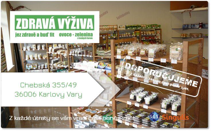 NOVÝ OBCHODNÍ PARTNER V KARLOVÝCH VARECH  ZDRAVÁ VÝŽIVA  Prodejna zdravé výživy, Bio, RAW, bezlepkových, DIA a super potravin, mouky, luštěnin, těstovin, celozrnného pečiva, olejů, sušeného ovoce, koření, bylinek.  http://www.singulis.cz/pages/obchodnik.aspx?cla_id=57068