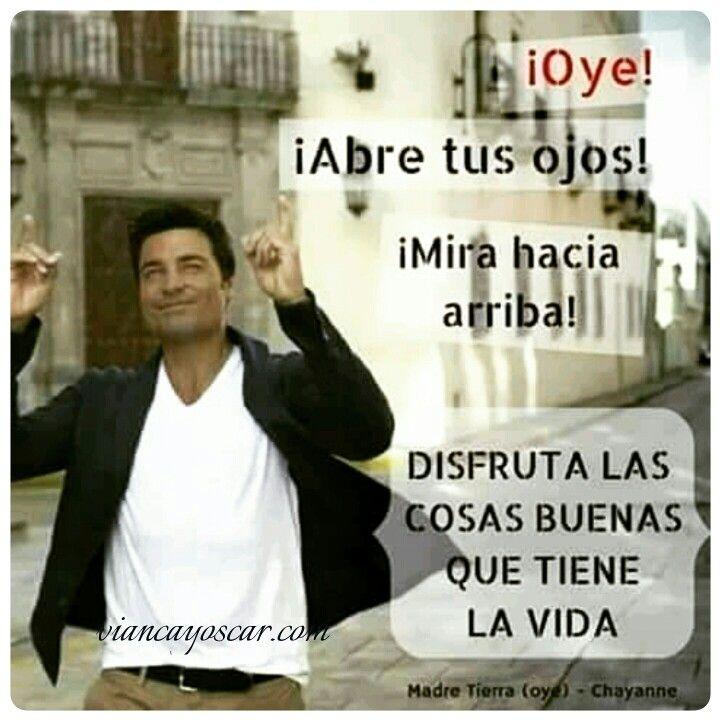 """Me gusta esa canción de #chayanne ... """"Disfruta las cosas buenas que tiene la vida""""... la la la... ENTRAA: viancayoscar.com #mesientofeliz  VISITANOS EN Facebook.com/pasionporlalibertad"""