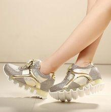 Самые продаваемые прозрачная подошва женская мода квартиры 2015 новое поступление дышащий женская обувь высота увеличение свободного покроя обувь(China (Mainland))