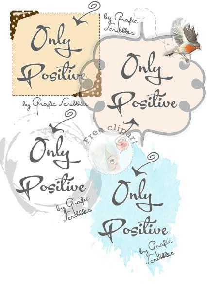 Solo positività - Only Positive - Free Clipart Con il termine pensiero positivo si designa una scuola di pensiero che sostiene... http://graficscribbles.blogspot.it/2014/08/pensare-positivo-positivita-ottimismo.html