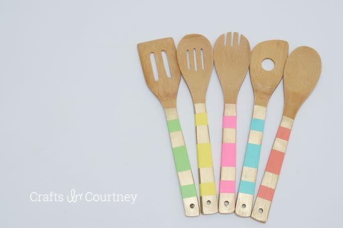 Wooden Spoon Makeover6 Dishwasher Safe Mod Podge Mod Podge Wooden Spoons