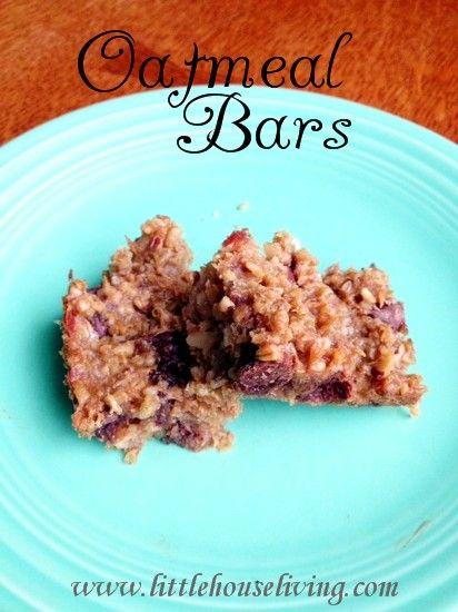 Easy Homemade Oatmeal Bars