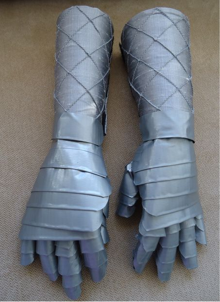 duct tape gauntlets