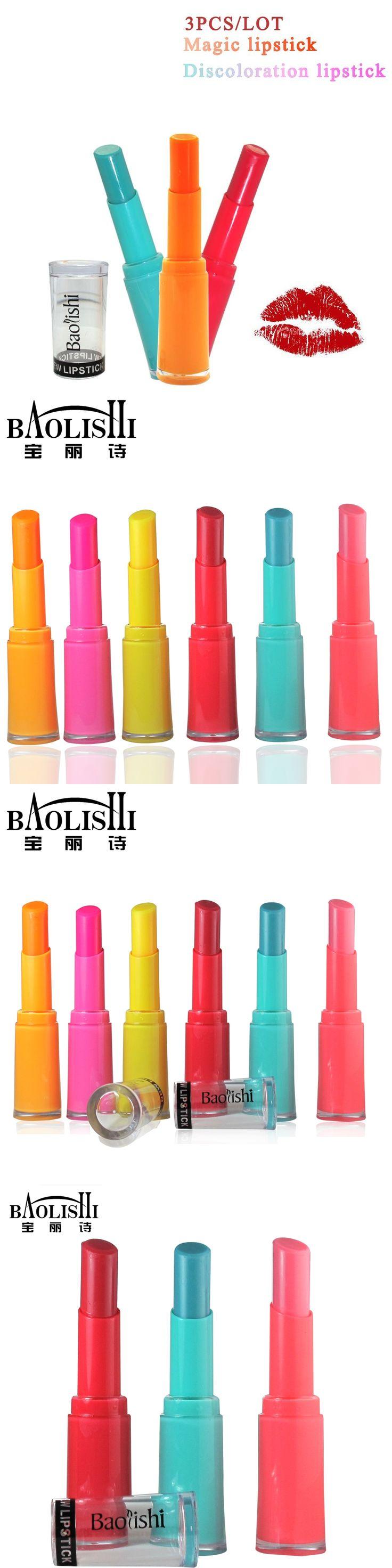 baolishi magic lipstick change colour natural lip balm matte lipstick red tint lip gloss beauty brand makeup