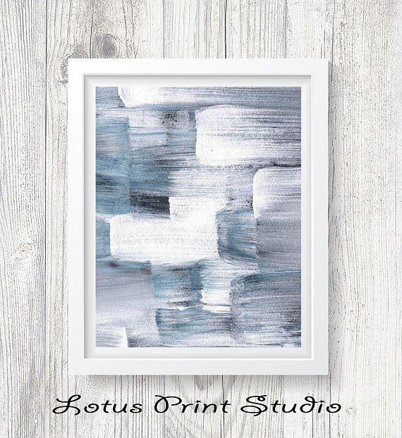 Watercolour Abstract Print Brush Strokes Wall Art Modern