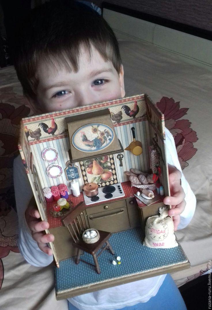 """Купить Румбокс """"Деревенский"""" - миниатюра, миниатюра для кукол, миниатюра 1 12, миниатюрная еда"""