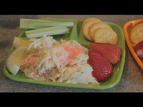 """Delicious """"Get Down Imitation Crab Meat Salad"""" with a squeeze of Lemon Juice - YouTube"""