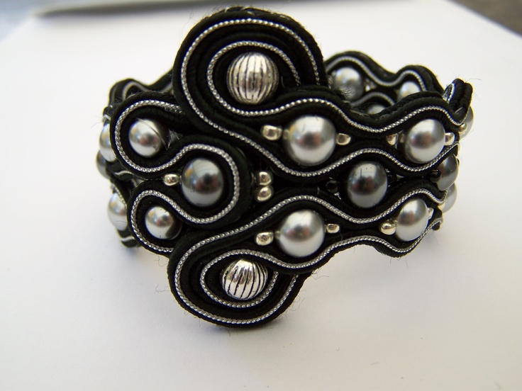 soutache and pearles