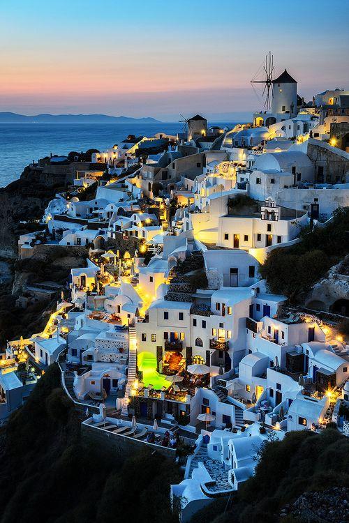 Grecia de noche