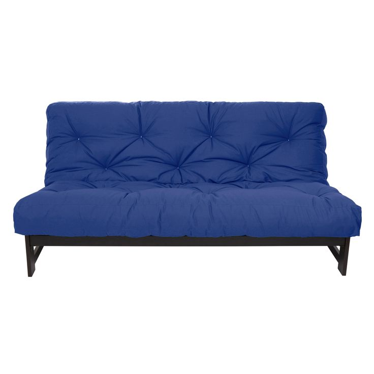 Good Mozaic Full Size Gel Memory Foam Futon Blue Color