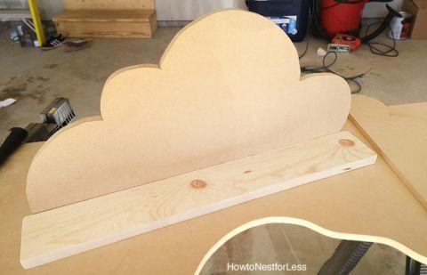 diy cloud bookshelf ledges tutorial