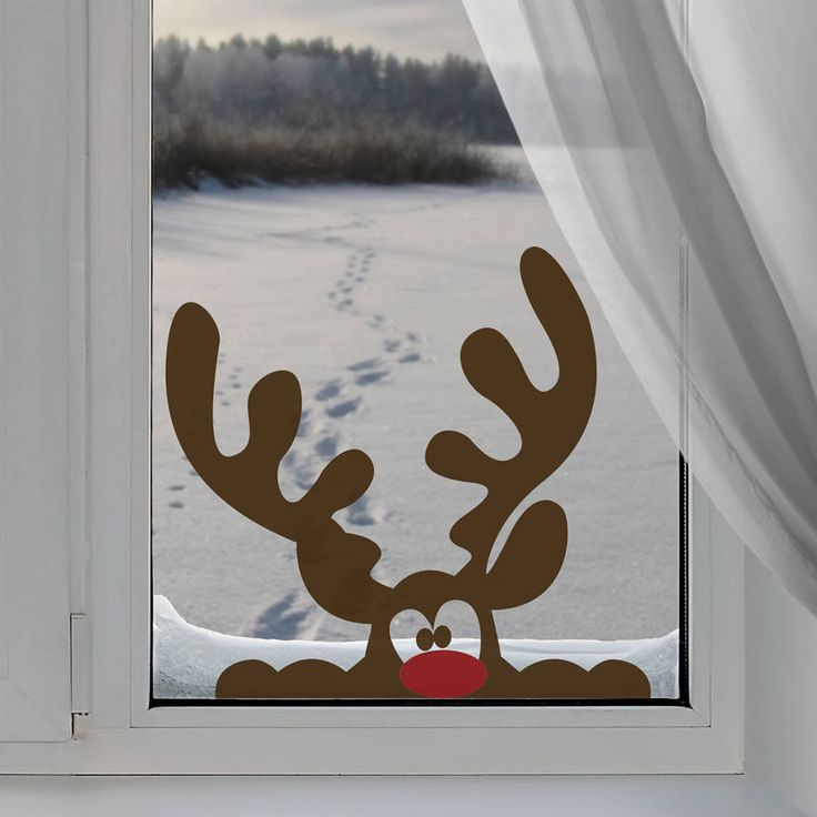 This peeping reindeer window sticker is perfect to create a magical theme to your decor this Christmas.Brown reindeer with red nose.Our Christmas wall stickers will add the finishing touch to your festive decor creating that instant WOW factor, adding a touch of festive glamour to your windows. Can also be used on walls, doors or furniture. All our wall stickers are handmade to order, using industry-leading equipment, ensuring you have a beautiful, high quality design for your home. Our wall…