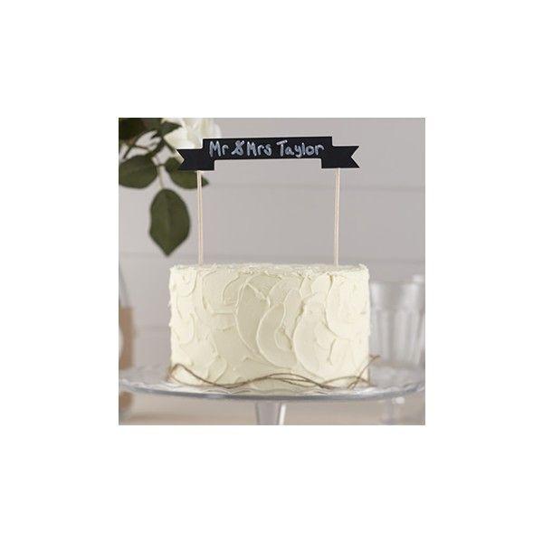 Questo cake topper è ideale da utilizzare per quasi ogni evento, una torta di compleanno  o torta nuziale e può essere personalizzato grazie allo striscione che lo caratterizza  realizzato come una lavagna!  Completo di 2 bastoni e un bastone di gesso.  Misura: 17 centimetri x 3 centimetri.
