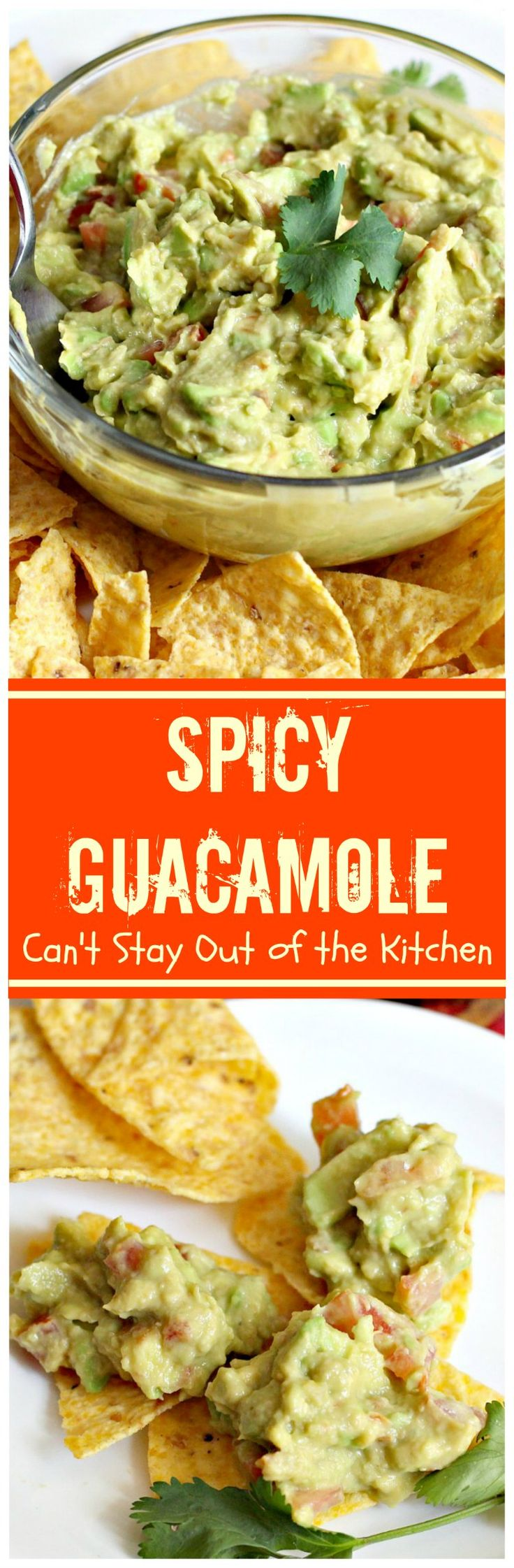 Spicy Guacamole | Can't Stay Out of the Kitchen | fabulous #TexMex #appetizer for #MemorialDay & other summer or holiday fun. #glutenfree #avocados