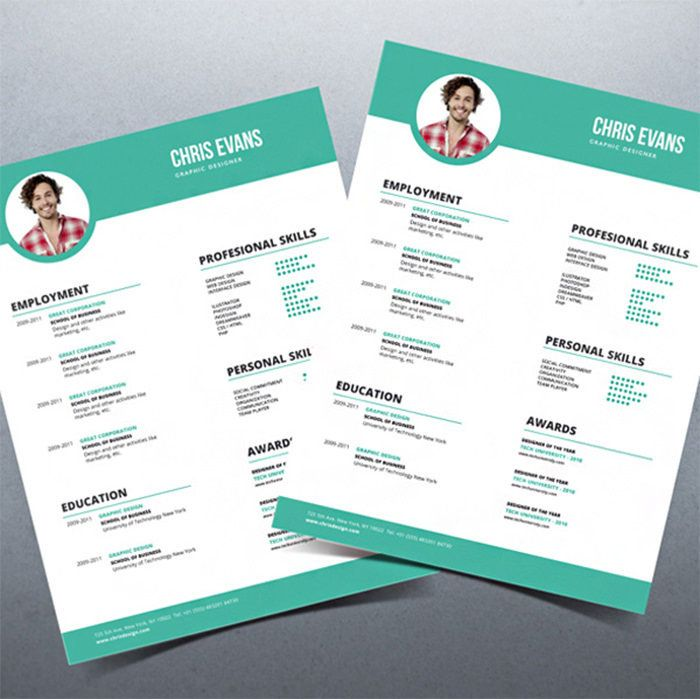 Beautiful Resume Templates 46 Best Curriculum Images On Pinterest  Resume Cv Resume Ideas
