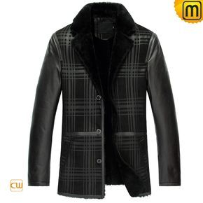 Shearling Coat Sheepskin Jacket Mens CW852278 Handsome designer shearling coat sheepskin jacket for men featuring with high quality sheepskin coat combines the best features of leather, fur and wool into one unbeatable garment.