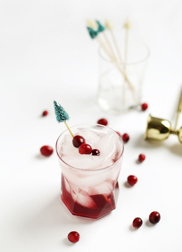DIY Christmas Tree Drink Stirrers