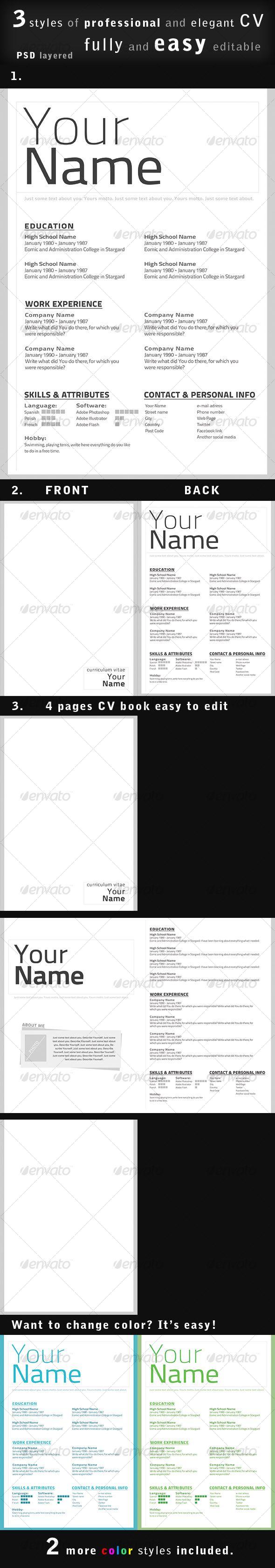 25 Best Easy Resume Template Ideas On Pinterest Resume Design