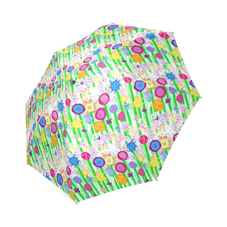 Pretty Summer Meadow Flowers Foldable Umbrella