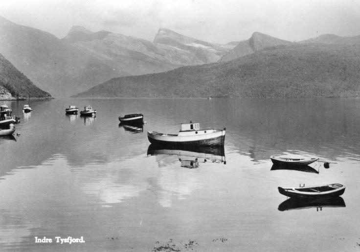Nordland fylke Tysfjord kommune  INDRE TYSFJORD. 1950-tallet