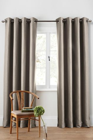 Buy Textured Weave Eyelet Curtains from the Next UK online shop