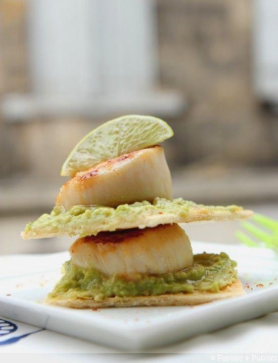 Millefeuille de Saint Jacques et guacamole ©Anne Latailllade - Papilles et Pupilles -
