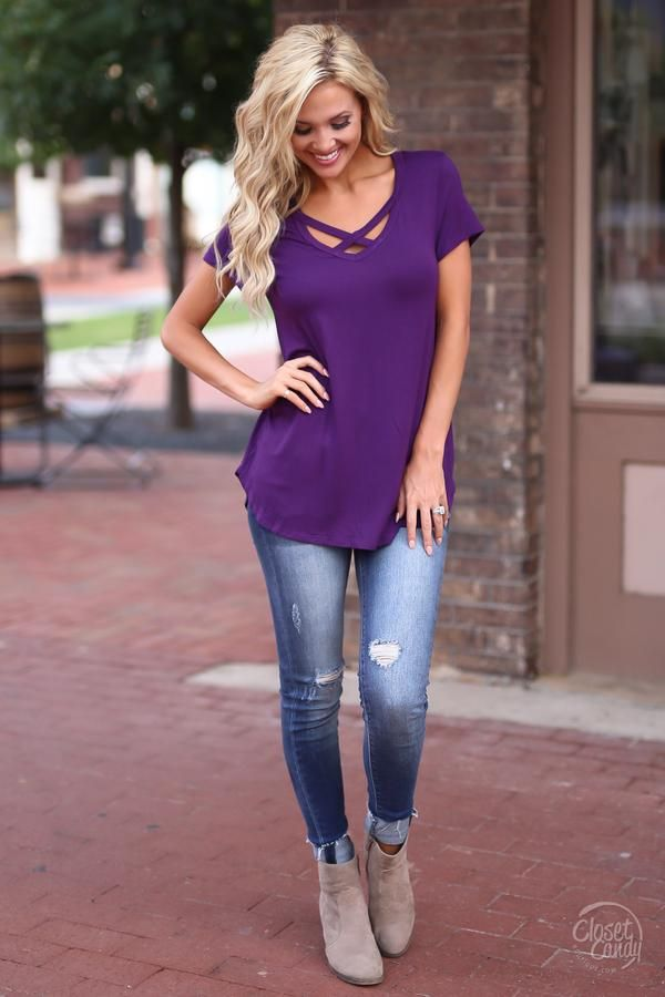 Weekend Mode Top - Purple